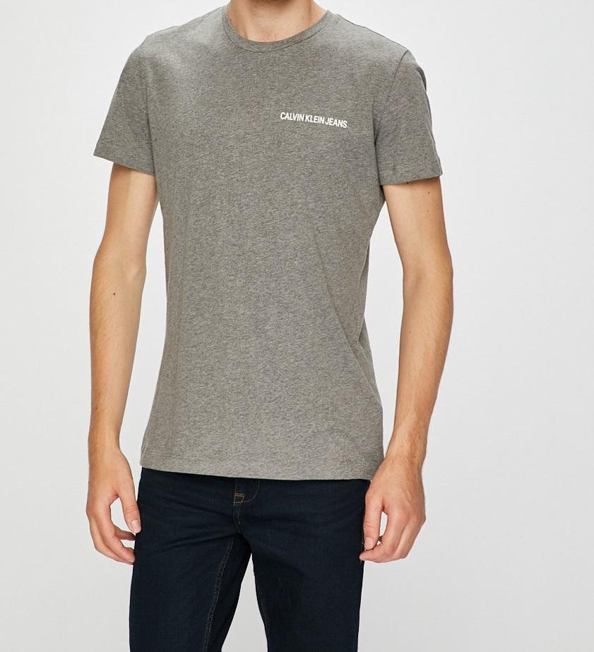 Pánské tričko OU43 šedá - Calvin Klein - Šedá/M