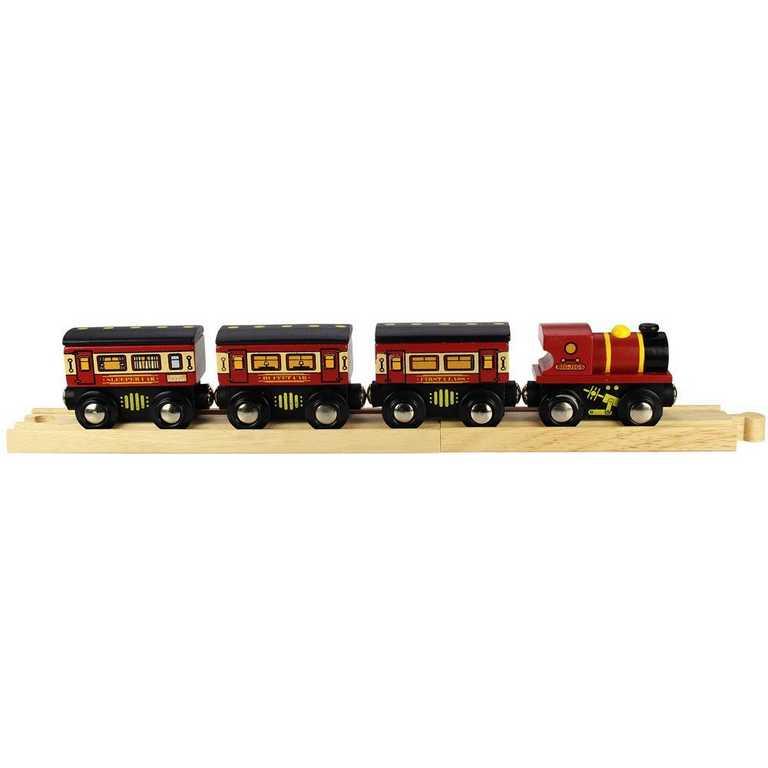 Bigjigs Rail Dálkový vlak + 3 koleje