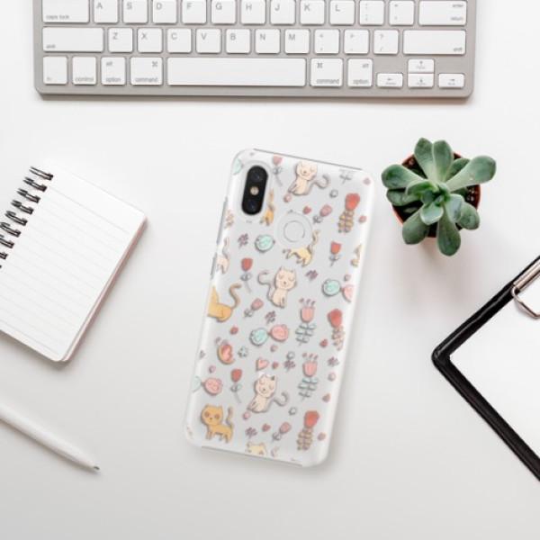 Plastové pouzdro iSaprio - Cat pattern 02 - Xiaomi Mi 8