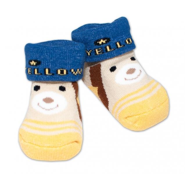 Kojenecké ponožky, 0 - 6 měsíců, Bobo Baby - Medvídek - 0/6 měsíců