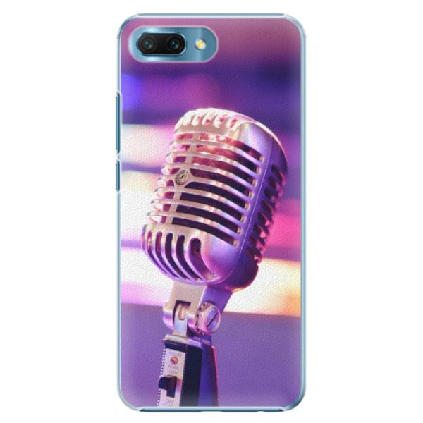 Plastové pouzdro iSaprio - Vintage Microphone - Huawei Honor 10
