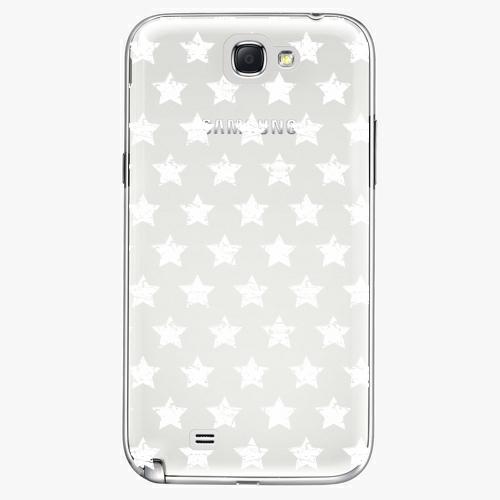 Plastový kryt iSaprio - Stars Pattern - white - Samsung Galaxy Note 2