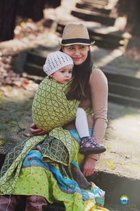 Little FROG Žakárový tkaný šátek na nošení dětí - LEMON HOURGLASSES - XL