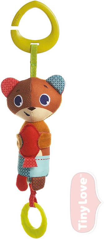TINY LOVE Baby medvídek Isaac textilní závěsný s klipem šustí cinká pro miminko