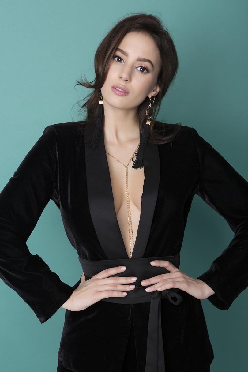 Ozdobný řetízek Body Julimex Bijoux Wendy - Silstříbrná/univerzální