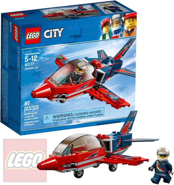 LEGO CITY Stíhačka na letecké show STAVEBNICE 60177