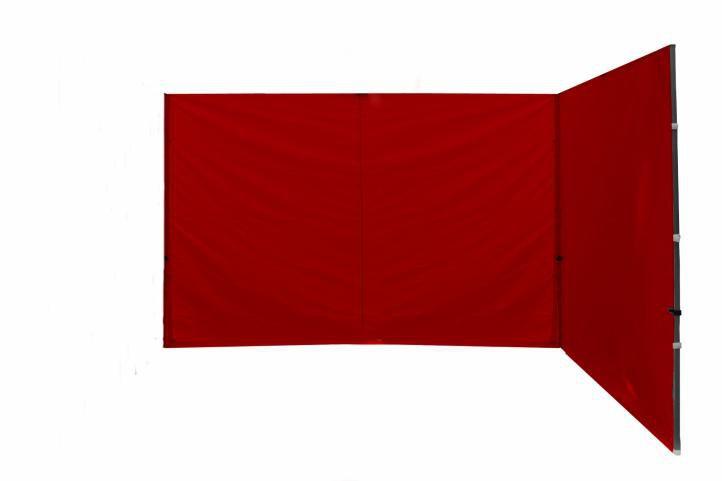 Sada 2 bočních stěn k PROFI nůžkovému stanu - červené