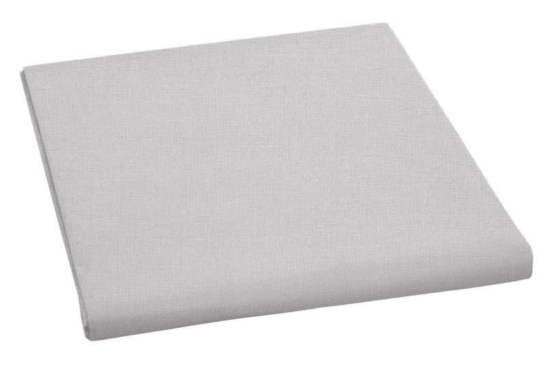 Prostěradlo bavlněné jednolůžkové 140x230cm světle šedé