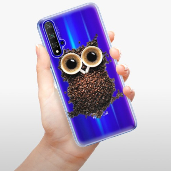 Plastové pouzdro iSaprio - Owl And Coffee - Huawei Honor 20