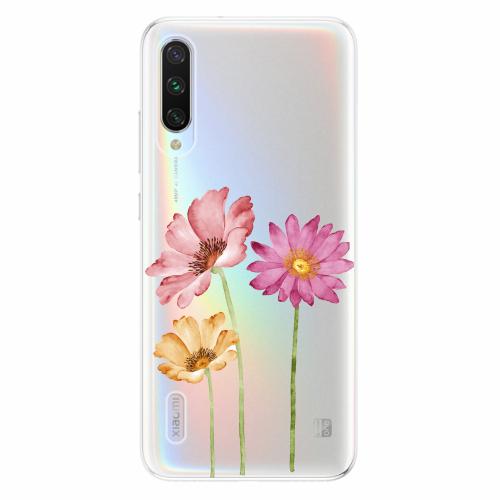 Silikonové pouzdro iSaprio - Three Flowers - Xiaomi Mi A3