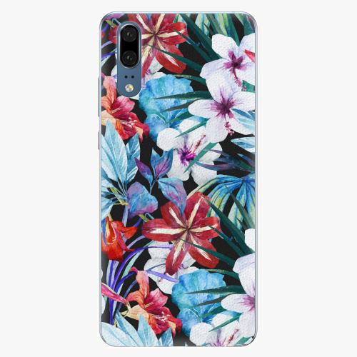 Silikonové pouzdro iSaprio - Tropical Flowers 05 - Huawei P20