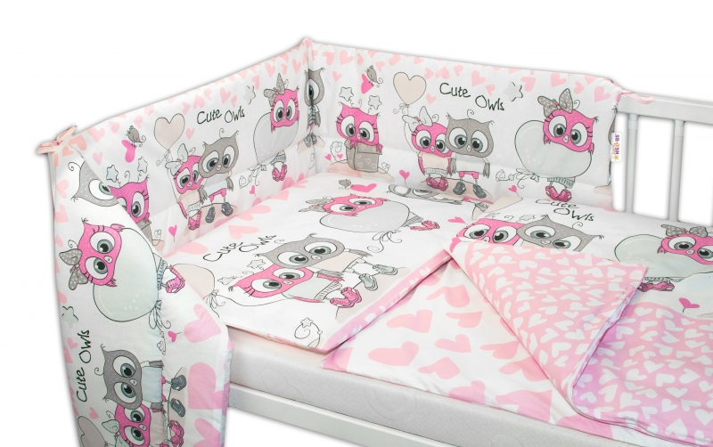 baby-nellys-3-dilna-sada-mantinel-s-povlecenim-135x100-cute-owls-ruzova-135x100