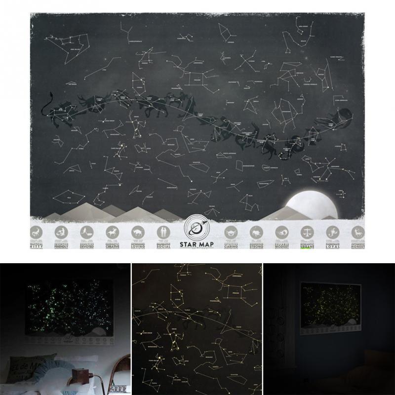 Svítící mapa souhvězdí