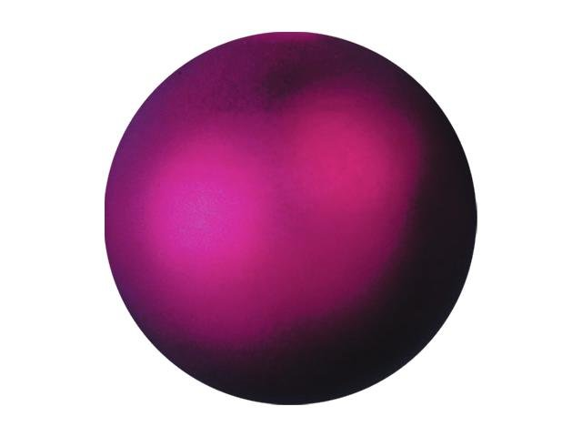 Vánoční dekorační ozdoby, 6 cm, růžová metalíza, 6 ks