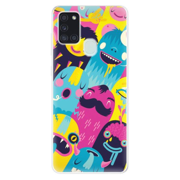 Odolné silikonové pouzdro iSaprio - Monsters - Samsung Galaxy A21s