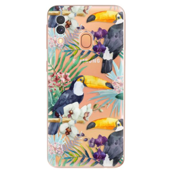 Odolné silikonové pouzdro iSaprio - Tucan Pattern 01 - Samsung Galaxy A40