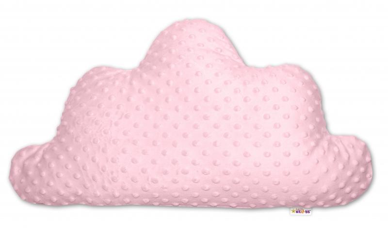 Dětský dekorační polštář Baby Nellys, mráček - minky růžový