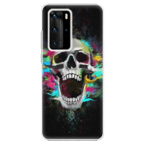 Plastové pouzdro iSaprio - Skull in Colors - Huawei P40 Pro