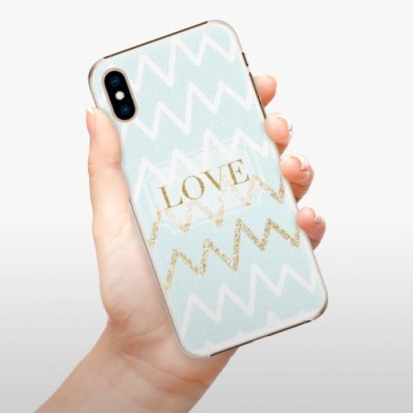 Plastové pouzdro iSaprio - GoldLove - iPhone XS