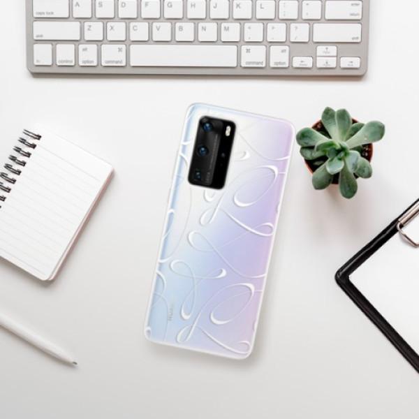 Odolné silikonové pouzdro iSaprio - Fancy - white - Huawei P40 Pro