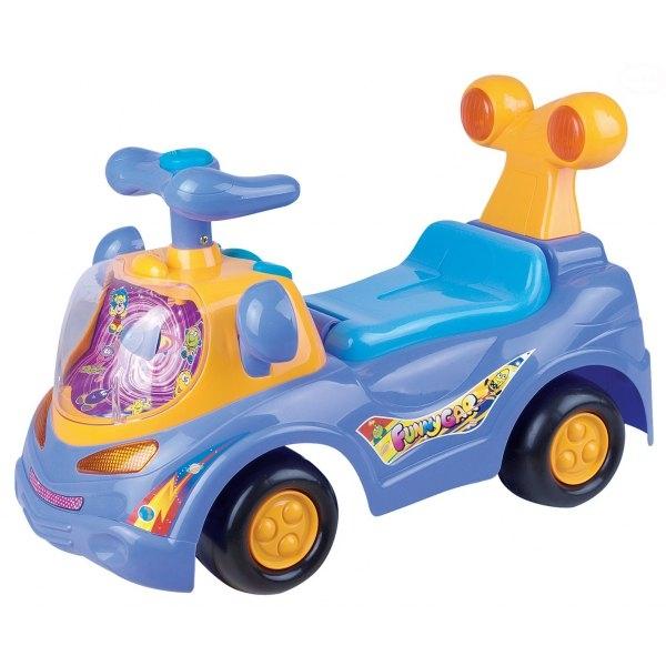 Odstrkovadlo,odrážedlo, jezdítko - FUNNY CAR - fialové