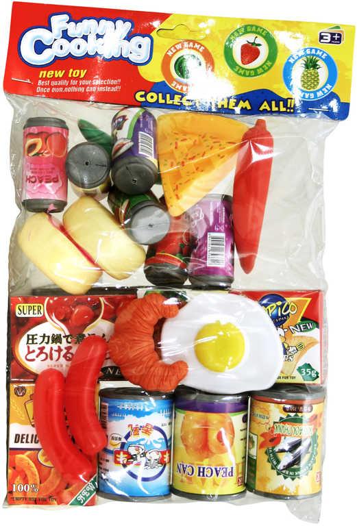 JÍDLO do kuchyňky dětské makety potravin plastová sada v sáčku