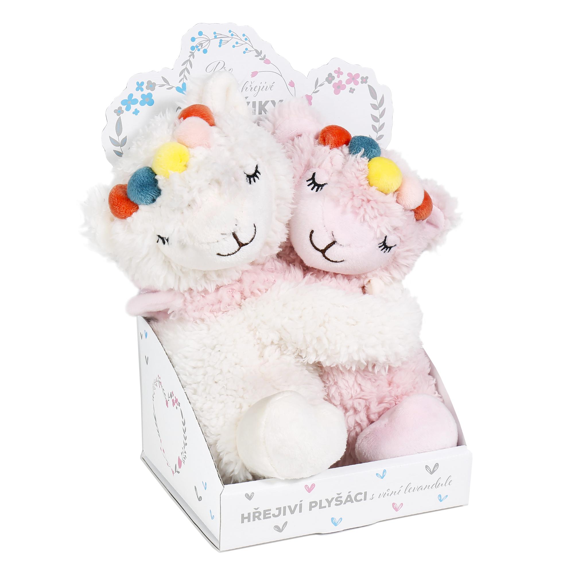 Warmies - Hřejivá mini zvířátka - Hřejivé zamilované lamy