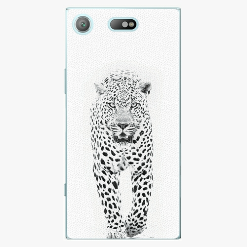 Plastový kryt iSaprio - White Jaguar - Sony Xperia XZ1 Compact