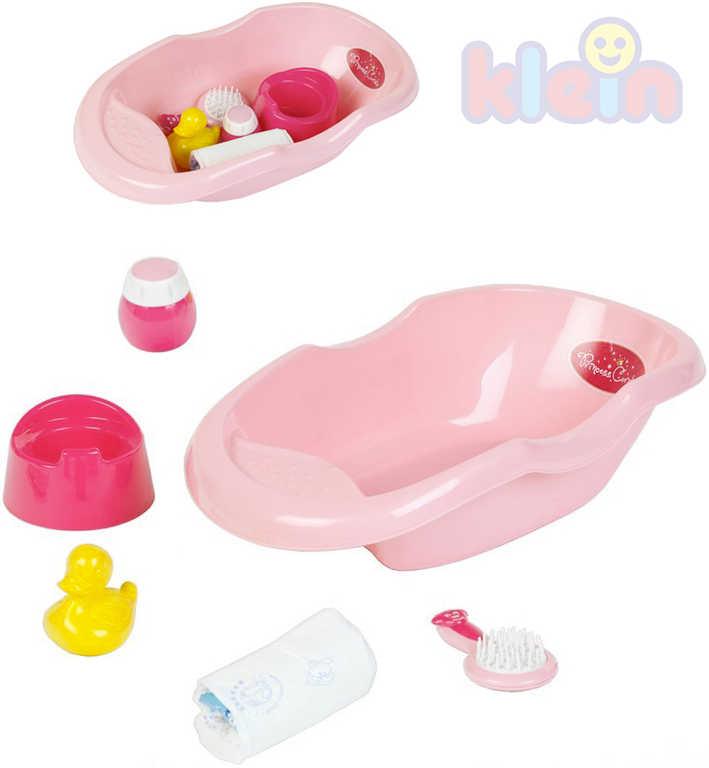 KLEIN Koupací set vanička s doplňky pro miminko panenku Princess Coralie