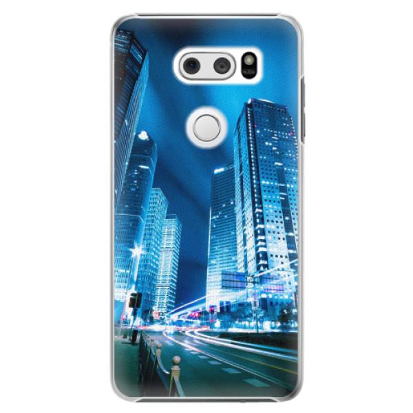 Plastové pouzdro iSaprio - Night City Blue - LG V30