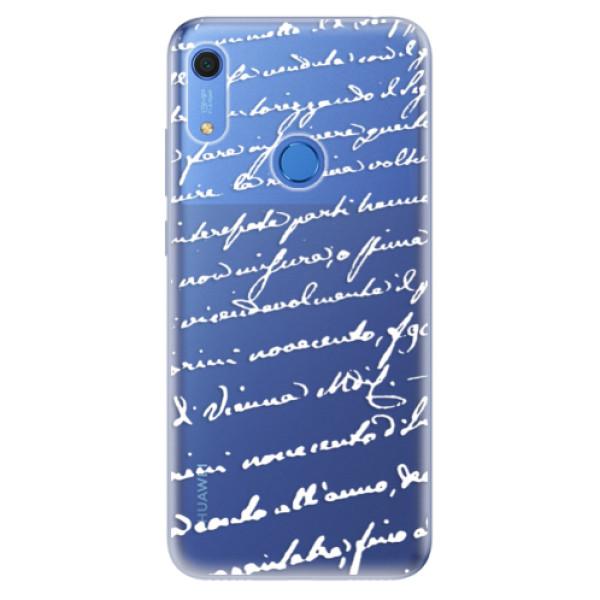 Odolné silikonové pouzdro iSaprio - Handwriting 01 - white - Huawei Y6s