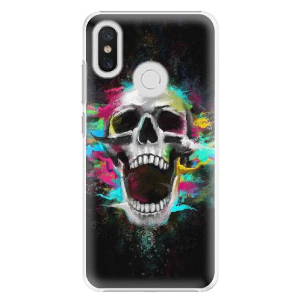 Plastové pouzdro iSaprio - Skull in Colors - Xiaomi Mi 8