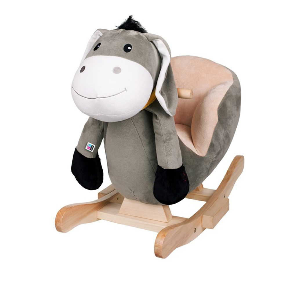 Houpací hračka s melodií PlayTo oslík - šedá