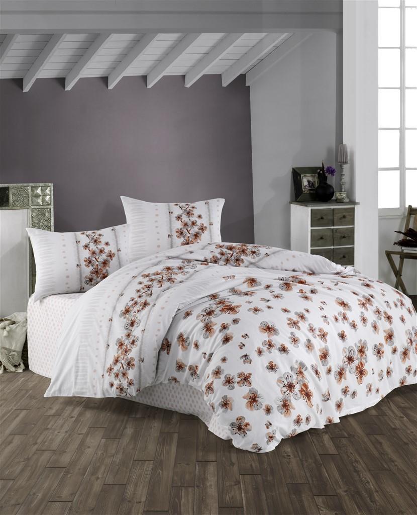 Prodloužené povlečení bavlna 140x220, 70x90cm Lorieta natur, Výběr zapínání: