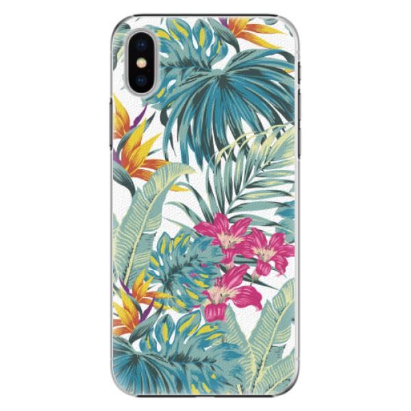 Plastové pouzdro iSaprio - Tropical White 03 - iPhone X